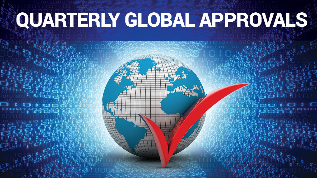 Quarterly Global Approvals