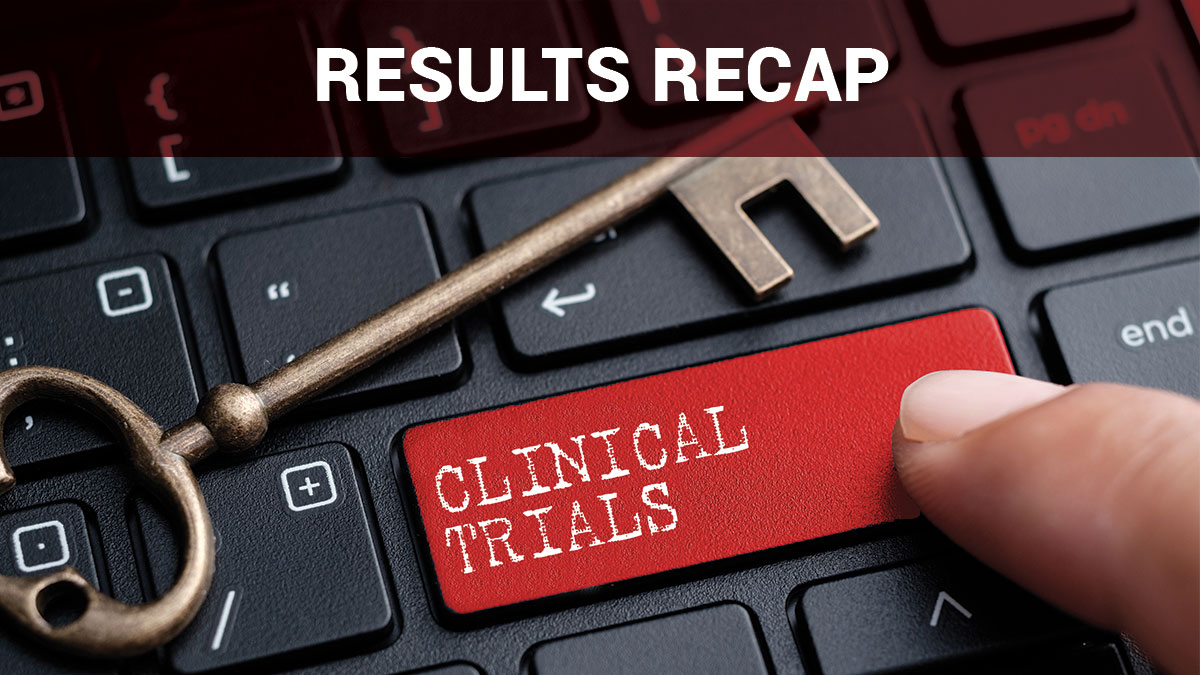 Results Recap, Clinical Trials