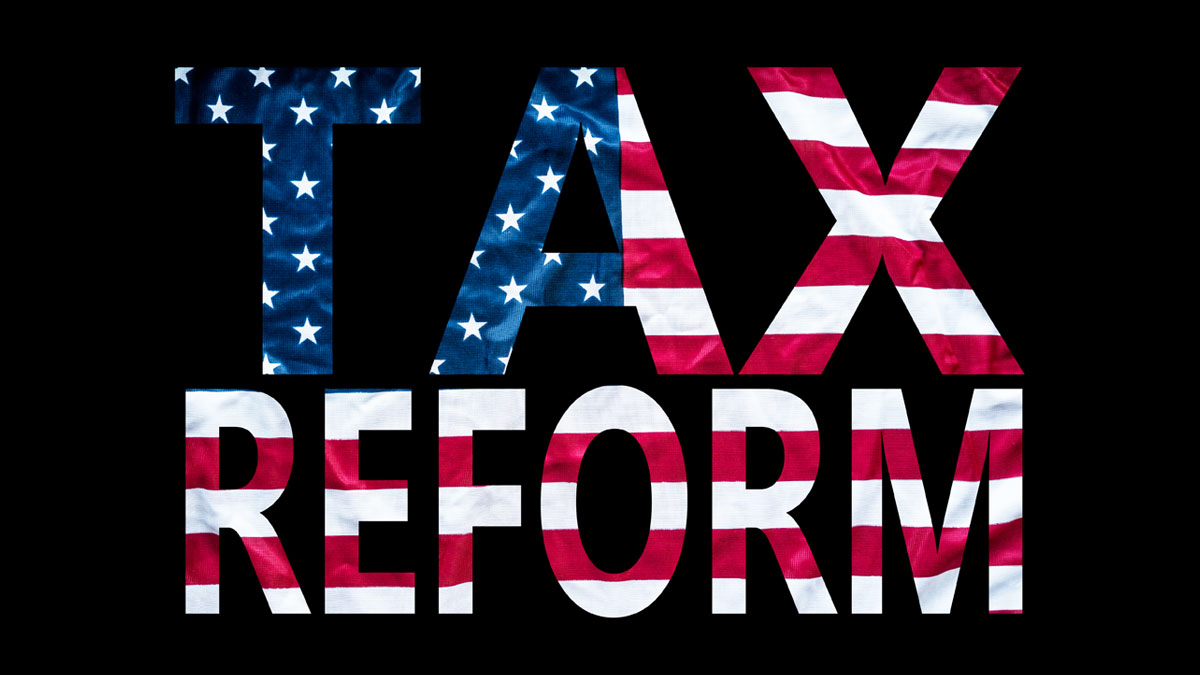 Tax Reform with US flag