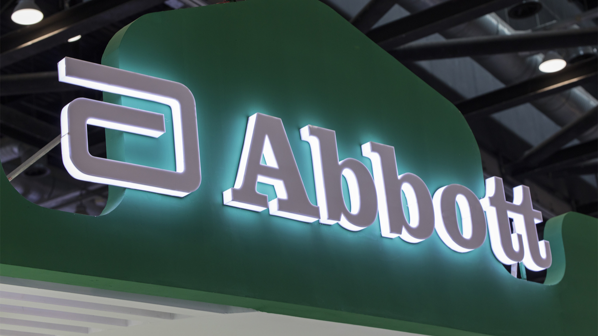 BEIJING, CHINA- JULY 15, 2017: Abbott sign; Abbott Laboratories, founded in 1888, is a health care company that serves worldwide. It has more than 20 billon USD in revenue last year. - Image