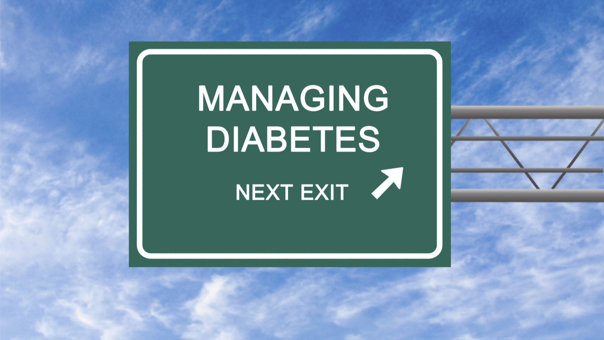 Road Sign to diabetes management - Image