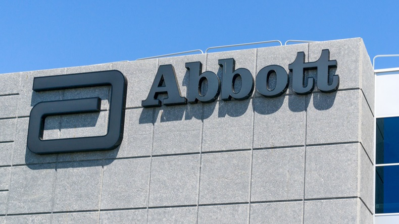SANTA CLARA, CA/USA - JULY 29, 2017: Abbott Laboratories exterior and logo. Abbott Laboratories is an American worldwide health care company. - Image
