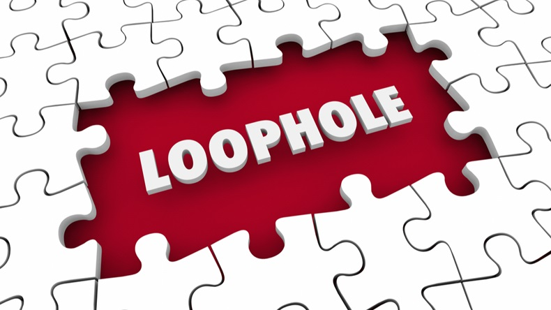Loophole Puzzle Gap Hole Breaking Rules 3d Illustration