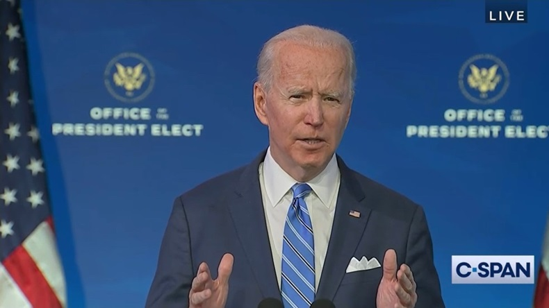 President-Elect Joe Biden speaks about his COVID-19 vaccination and economic recovery plan.