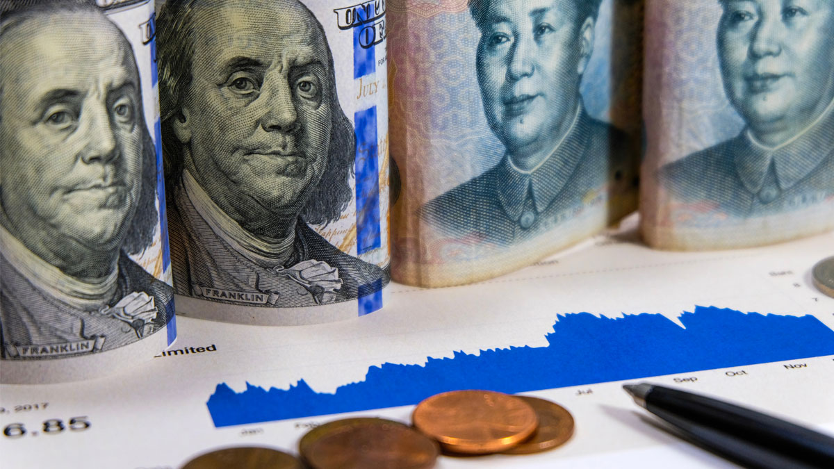 US dollar and Yuan China which its are 2 biggest countries for economic growth.Now America and China announce tariff tax policy to make conflict.