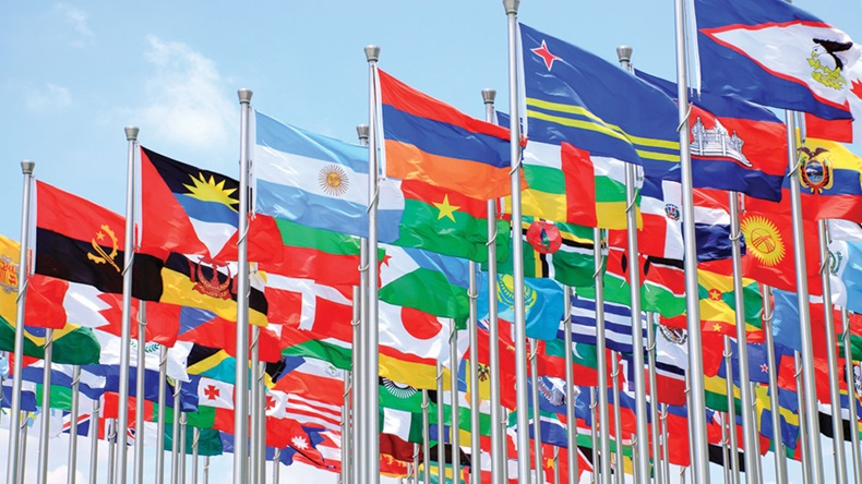 International Flags Blowing In Wind_1200x675