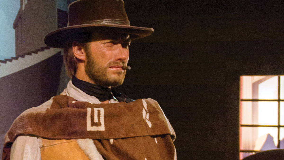 LOS ANGELES, USA - SEP 28, 2015: Clint Eastwood in Madame Tussauds Hollywood wax museum.