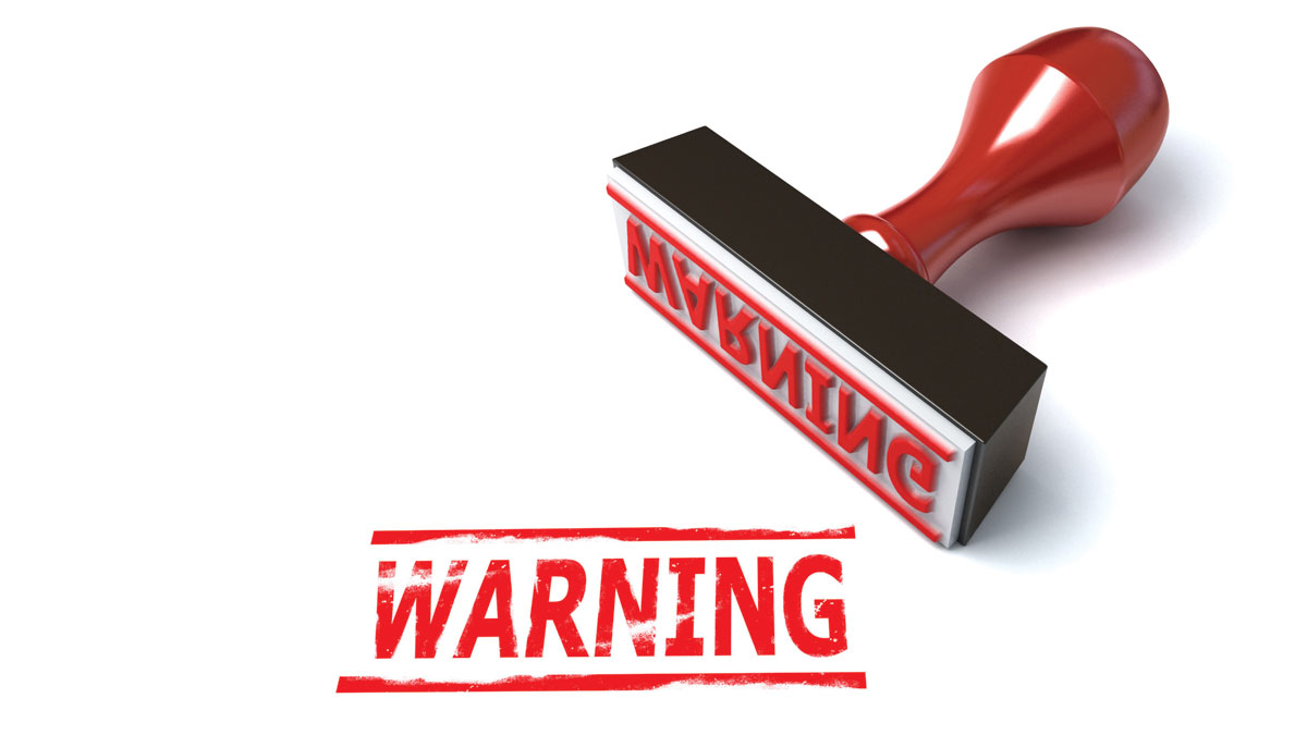 Warning Rubber Stamp