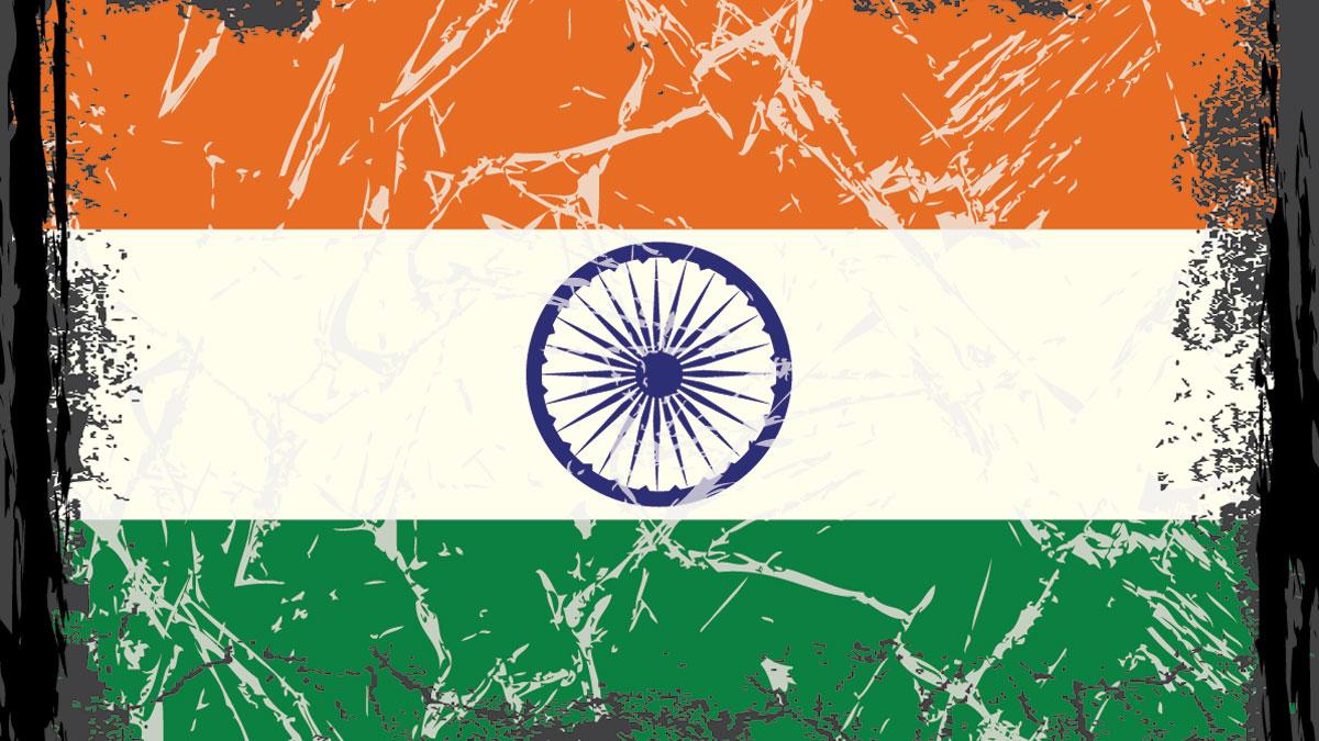 Grunge India flag.